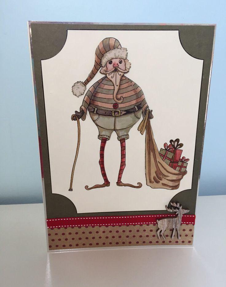 Santa handmade card using House of zandra decoupage