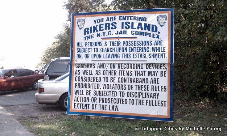 Riker's Island sign