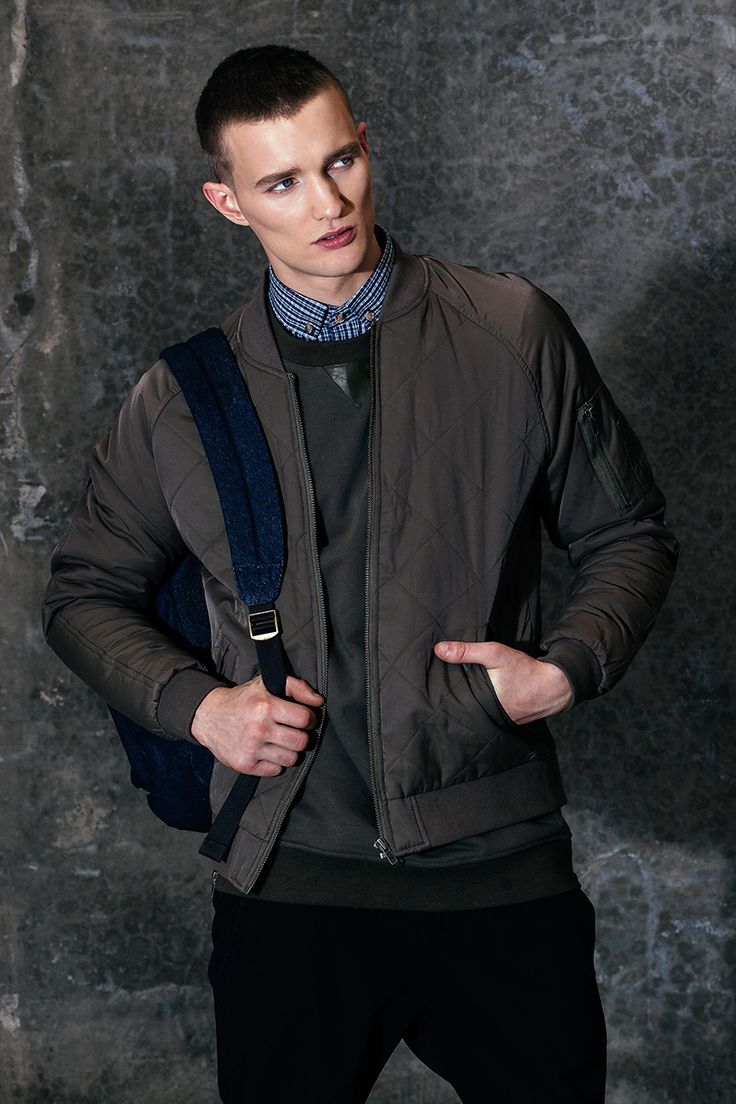 AUTONOMY / MENSWEAR / MELBOURNE FASHION / MENS BOMBER JACKET / QUILTED BOMBER JACKET / MENS STYLE / MENS WINTER 2015