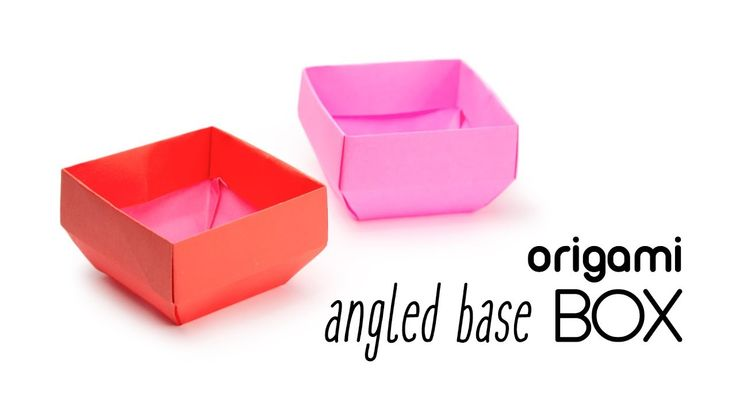 Origami Angled Base Box - Origami Pot Tutorial ♥︎ Paper Kawaii