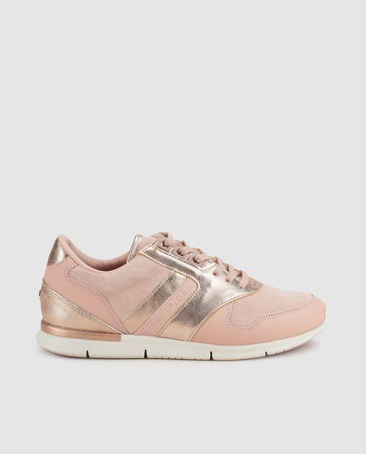 5602ab60ab6 Zapatillas de serraje de mujer Tommy Hilfiger de piel en color rosa ...