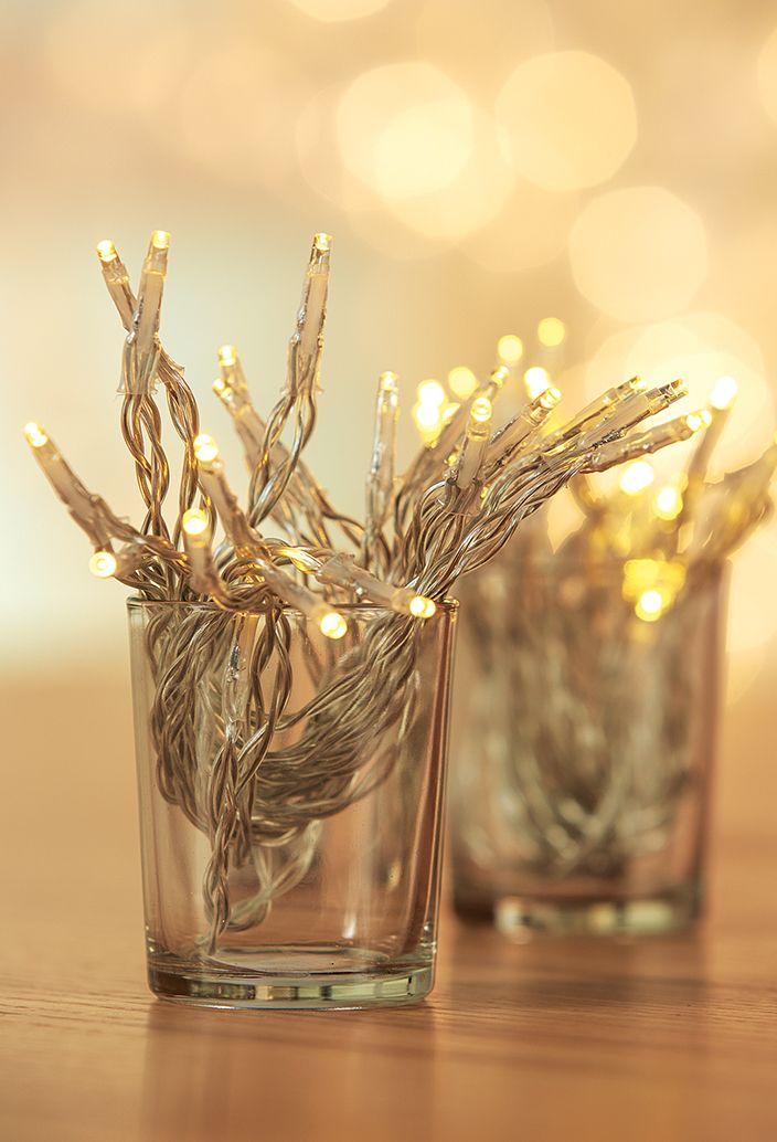 Guirlande électrique blanc chaud à LED et piles - Noël Actuel