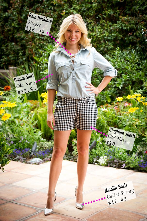 Gingham + denim Minis, Outfits Fashion, Pennies Chic, Summer Chic