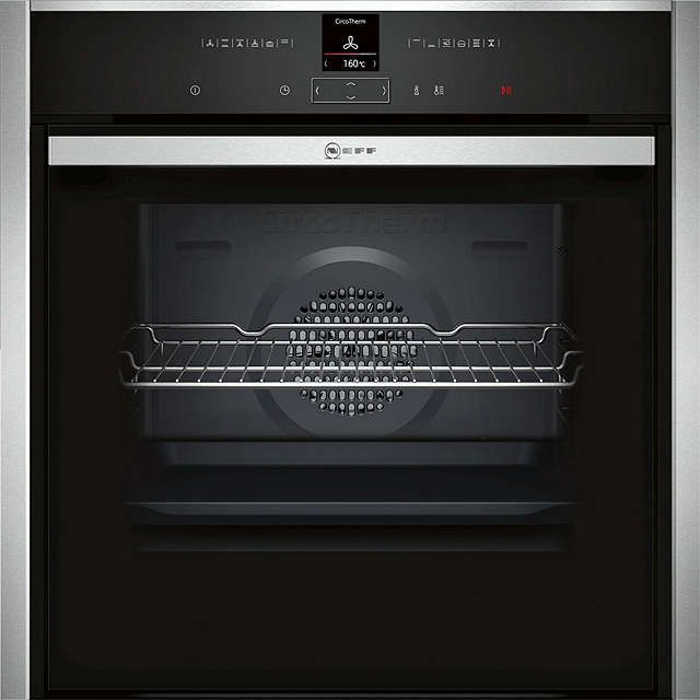 71l B47CR32N0B Slide and Hide EcoClean Single Electric Oven, Stainless Steel Online at johnlewis.com