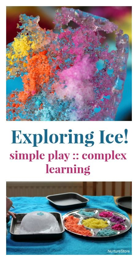 For day two of our Simple Play :: complex learning series, we're looking at ice play. It's a...
