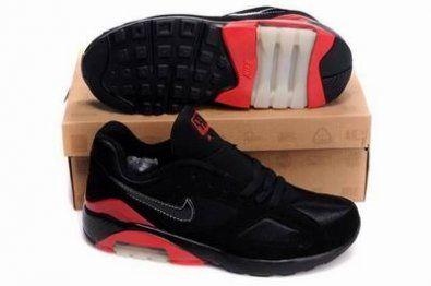 Nike Air Max 180 zapatillas de negro / rojo http://www.esnikerun.com/