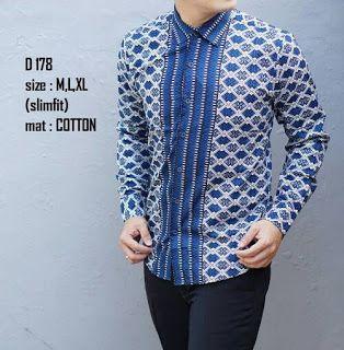 Baju Batik Pria Lengan Panjang   Model Baju pria terbaru