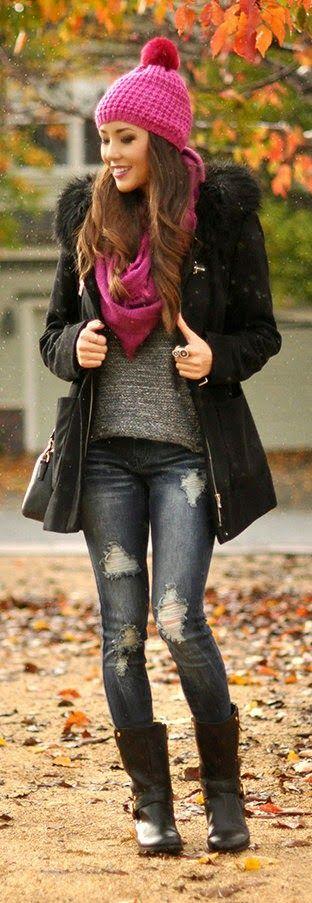 All Cozied Up - Randi Wool Blend Toggle Coat, Black Hearts Brigade Distressed Jean / Hapa Time