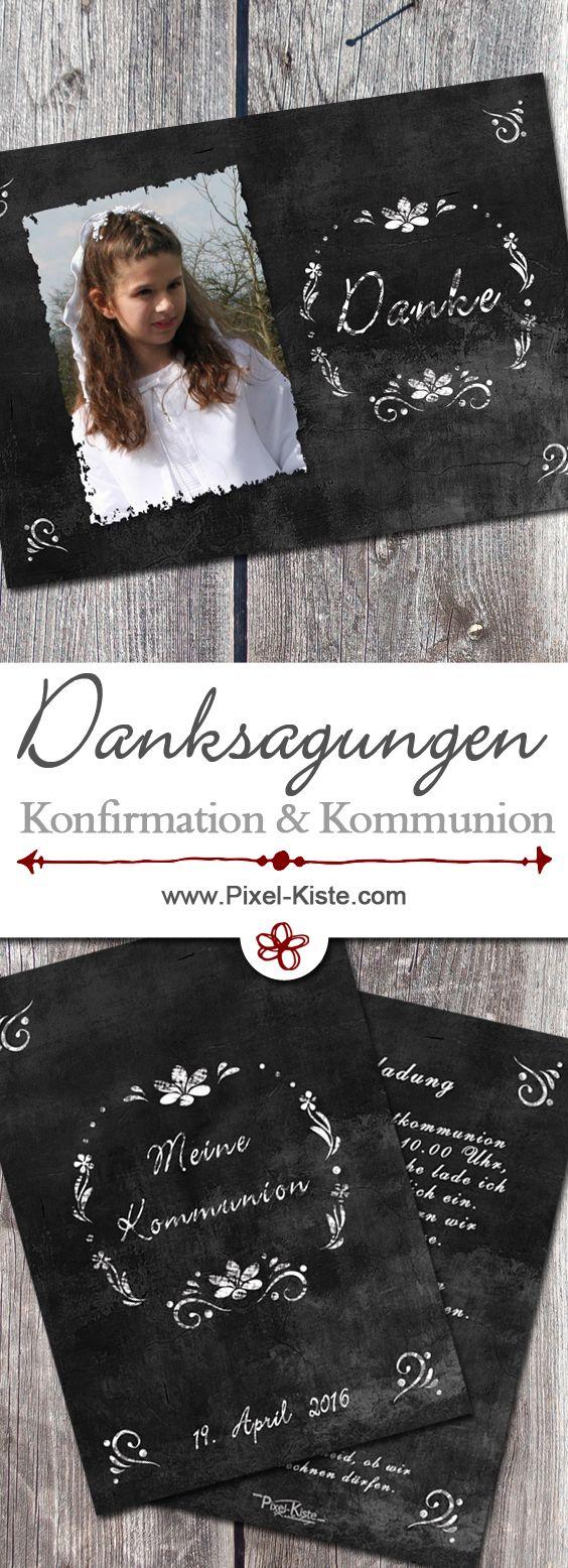 Danksagungskarten zur Kommunion ab 0,40 Euro gestalten lassen.  #Kommunion #Konfirmation #Danksagungen #drucken #Danksagungskarten #Erstkommunion #Chalk #Kreide #Chalkboard