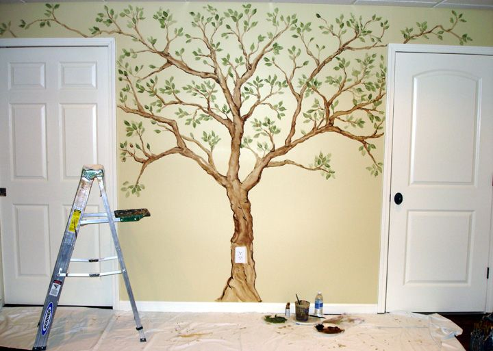 family tree on the wall   Family Tree Steps including using painters tape as a guide