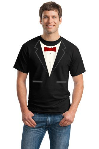 Black Tuxedo Adult Unisex T-shirt / Funny Formal Bachelor Party Wedding Prom or Funeral Tux Tee Shirt