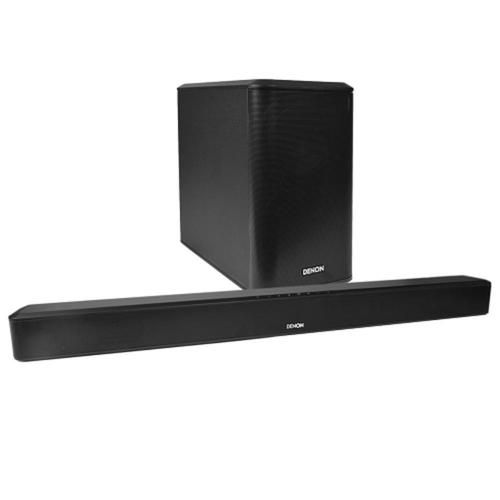 Denon DHT-S514 39 2.1-Channel 175W Bluetooth Home Theater Sound Bar System w/Wireless Subwoofer (Black)