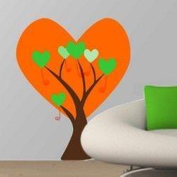 Δέντρο απο μεγάλες καρδιές,  αυτοκόλλητο τοίχου,19,90 €,http://www.stickit.gr/index.php?id_product=723&controller=product