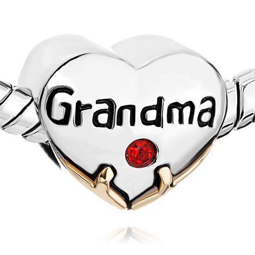 Pugster Heart Grandma Red Swarovski Crystal Love Beads Fits Pandora Charm $12.49 #topseller