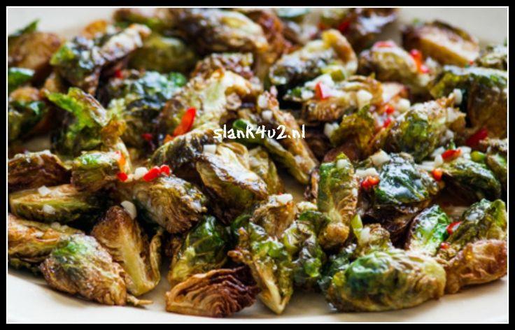 Spruiten met spaanse peper, knoflook en mosterd - Slank4u2