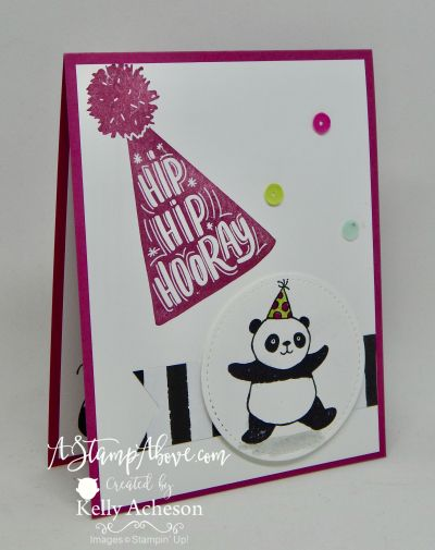 VIDEO TUTORIAL - you'll find all the details for this cute card on my blog when you click on the photo. www.AStampAbove.com