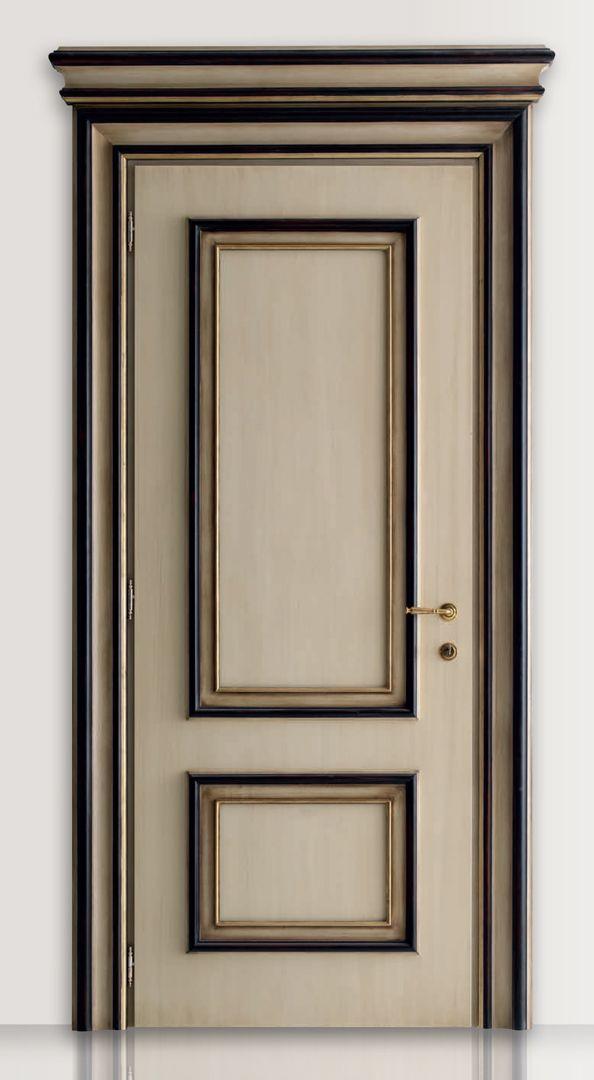 PIETRALTA 1324/QQ Ivory and black painted door Pietralta© Classic Wood Interior Doors | Italian Luxury Interior Doors | New Design Porte Lorenzo's Doors