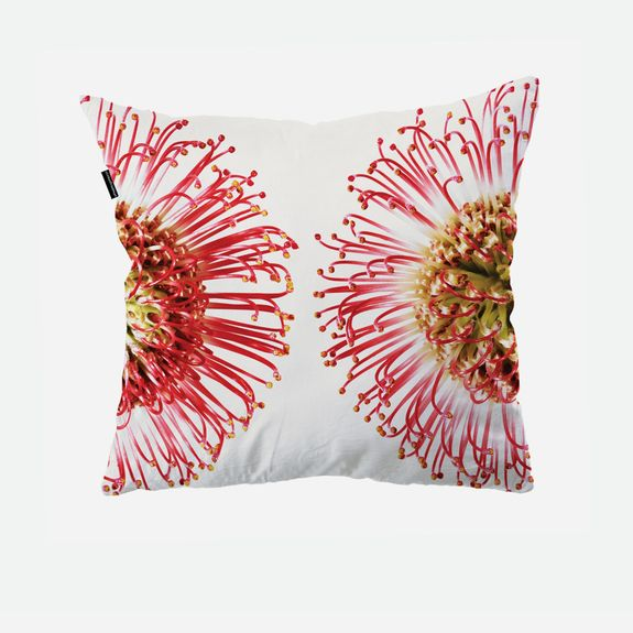 How lovely is this?? Clintonfriedman - Protea Pin Cushion Cover – White & Pink