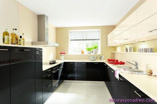 cool Feng Shui ile L Tipi Mutfak Tasarımları