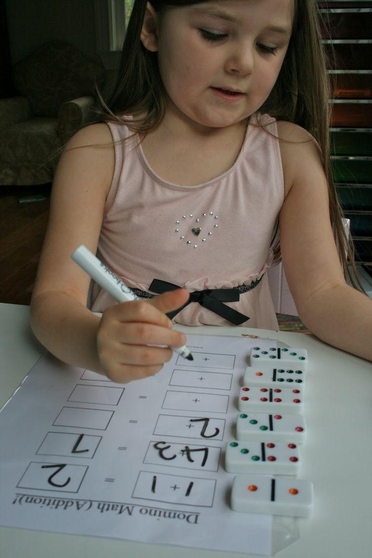 The Moffatt Girls: preschool workboxes great way to practice addition