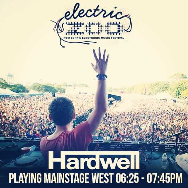 Instagram photo of Hardwell's set time at #electriczoo #edm #mrk634