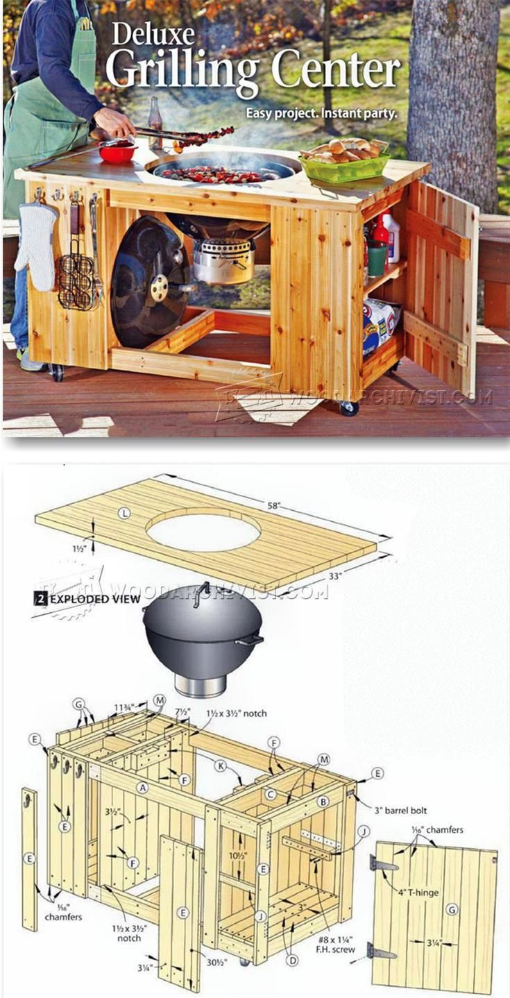 DIY Grilling Center - Outdoor Plans & Projects | WoodArchivist.com