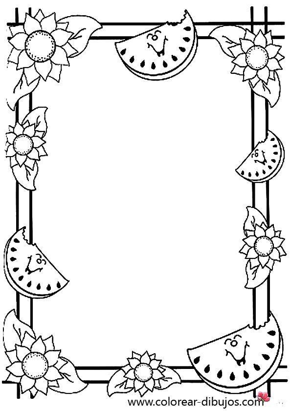 Peques y pecas marcos con hojas para colorear for Paginas para decorar tu casa