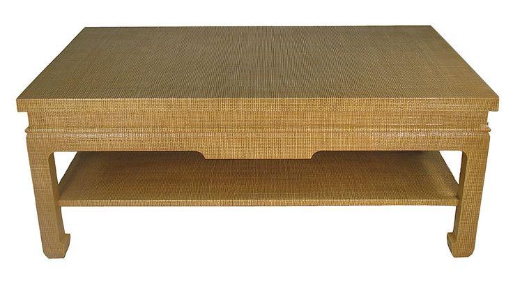 Raffia wrapped coffee table coffee tables pinterest for Raffia coffee table