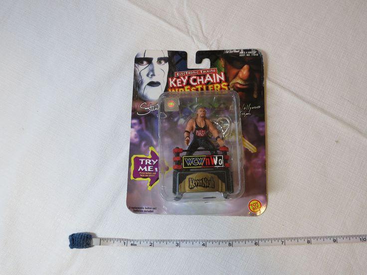 WCW nWo Talking Key Chain Wrestlers Toy Biz Kevin Nash 77010 ages 4 and up RARE #ToyBiz