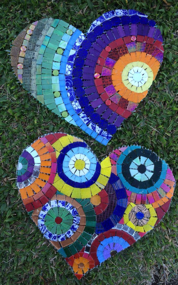 Mosaico coração , mosaic heart. By Schandra Mosaicos