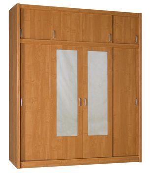 Skříň GENTOFTE 4 dveře olše 180x220x62