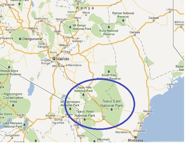 Tsavo Map