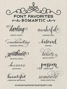 best valentine fonts