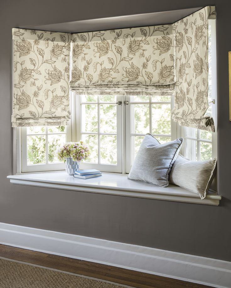 17 best images about bay window treatments on pinterest for Best place for window treatments
