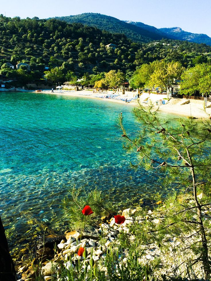 Aliki Beach, Thassos Island, northern Aegean Sea, Greece