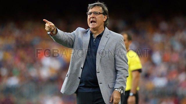 FC Barcelona 7-0 Levante | FC Barcelona, Martino instruyendo. [18.08.13]
