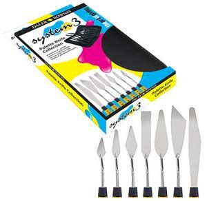 Daler Rowney System 3 Acrylic Artists' Palette Knife Set