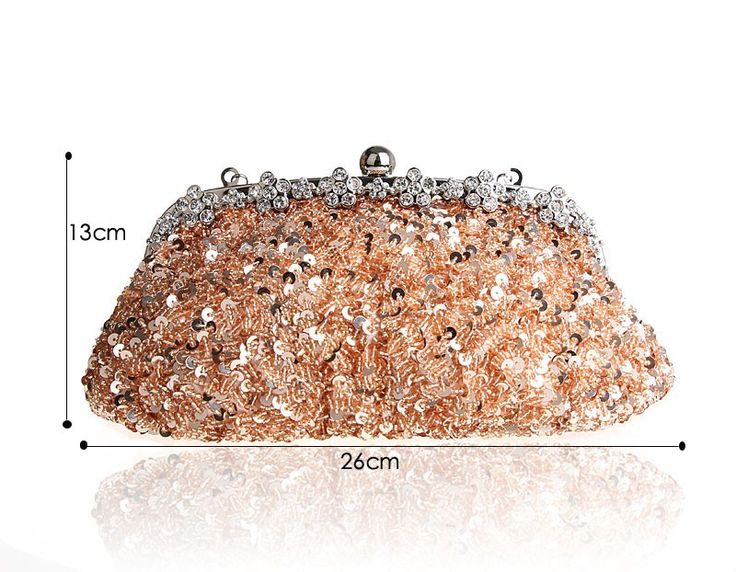 Top Selling Silver Totes Party Evening Bag Women Beaded