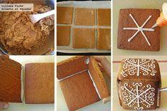 Cómo hacer una caja con masa de galletas de Navidad. Pasos