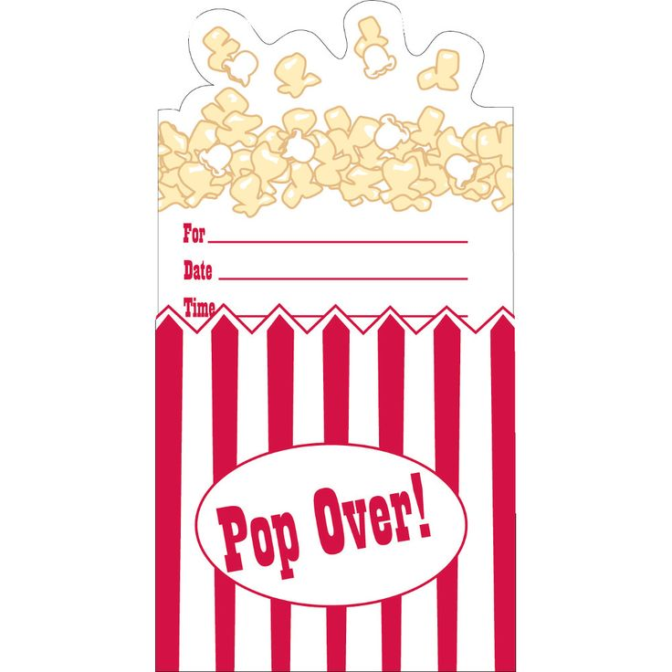 75% OFF: Reel Hollywood Pop-Up Invitations - 8 Pk Party Supplies Canada - Open A Party