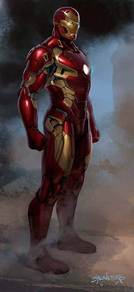 Iron Man Concept Art for Captain America: Civil War