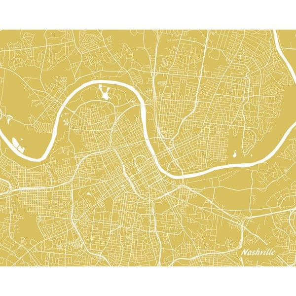 Nashville Street Map Print Tennessee City Street Map Poster Map of... ($9.01) ❤ liked on Polyvore featuring home, home decor, wall art, map poster, map wall art and map home decor