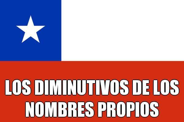 LOS DIMINUTIVOS DE LOS NOMBRES PROPIOS EN CHILE | Hipocorísticos chilenos #Chile