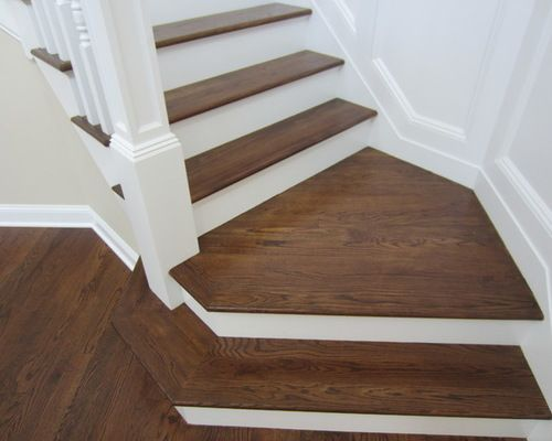 Special Walnut Stain On Red Oak Staircase Design Ideas