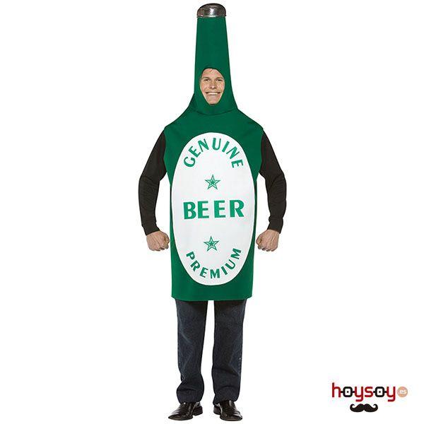 Original #disfraz de #botella de #cerveza para pasar un buen día de #oktoberfest, carnaval o despedida de soltero #Disfraces