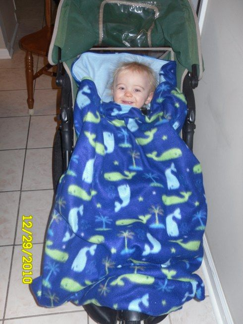 make a stroller blanket for River and (hopefully) new stroller