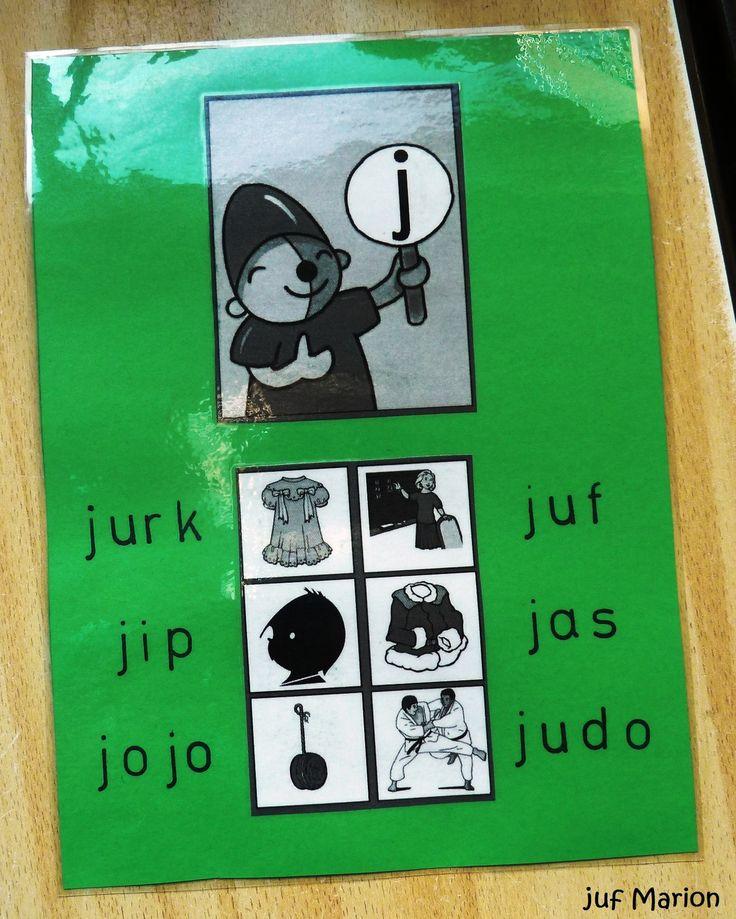 Voorbeeldkaart lettergroeiboekje. De kinderen knippen de plaatjes uit en plakken ze op.De woordjes worden er bij geschreven of gestempeld.