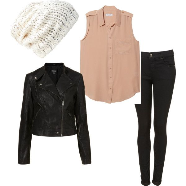 """""""Eleanor Calder Inspired Outfit for a Bonfire with a white beanie"""" by eleanorcalder-style on Polyvore"""