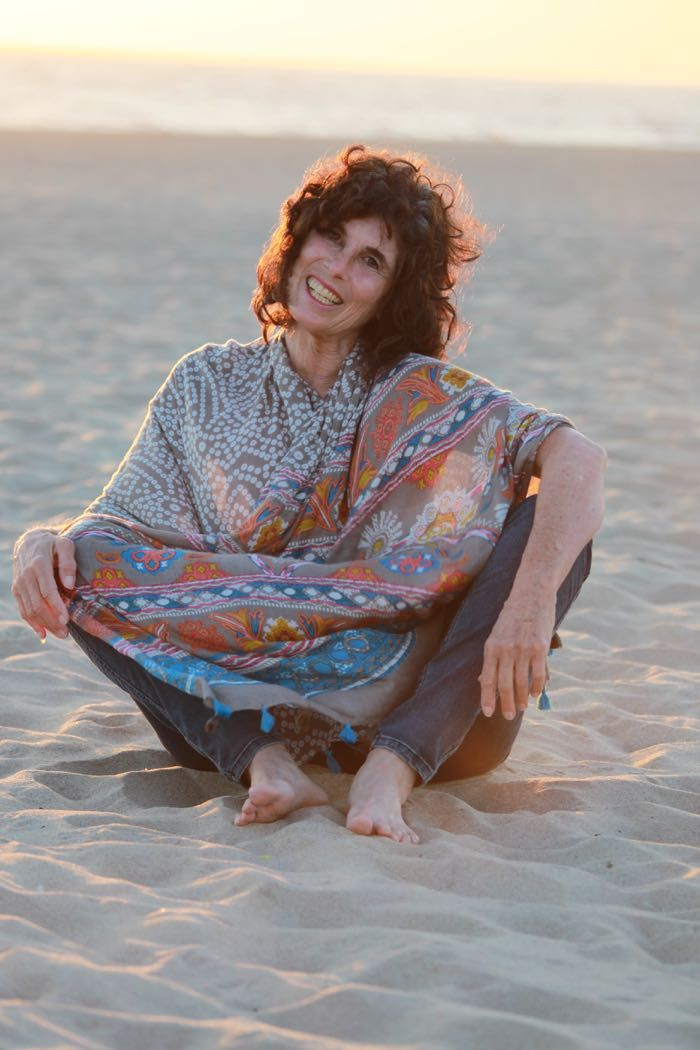 Every time a new scarf comes out, I am the model for the photo shoot. As the founder of the Sisterhood of the Sacred Scarves - it is my job to portray the scarf in a setting that feels like the essence of the scarf. For OM SHANTI I just had to shoot at the beach in Marina Del Rey, CA! I love this photo - to me it totally represents the essence and serenity of peace.