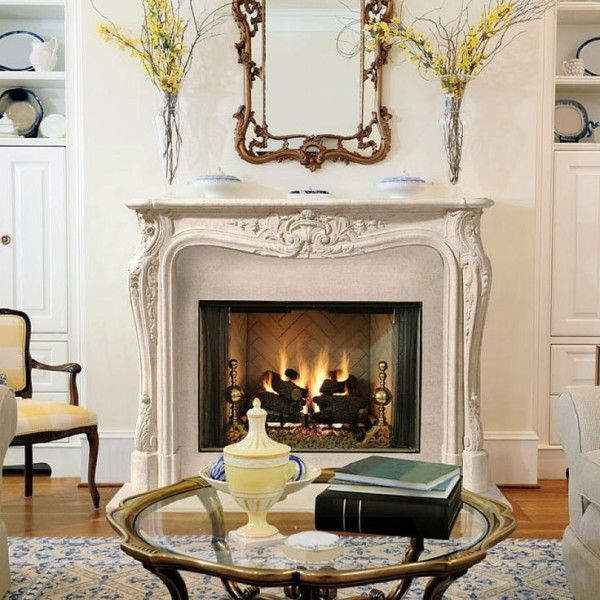 99 best French Fireplace Mantels images on Pinterest | Stone ...